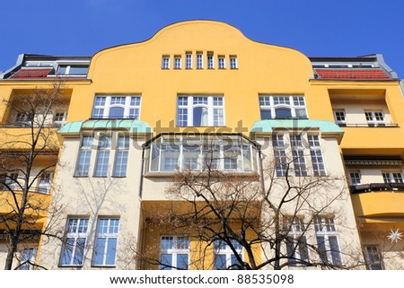 Reorganized old building - stock photo