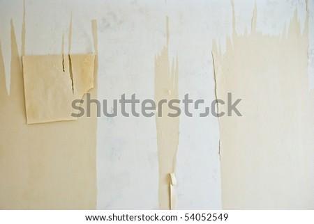 Repair. Removal of wallpaper. - stock photo