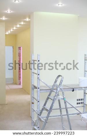 Repairs in the apartment, interior decoration - stock photo