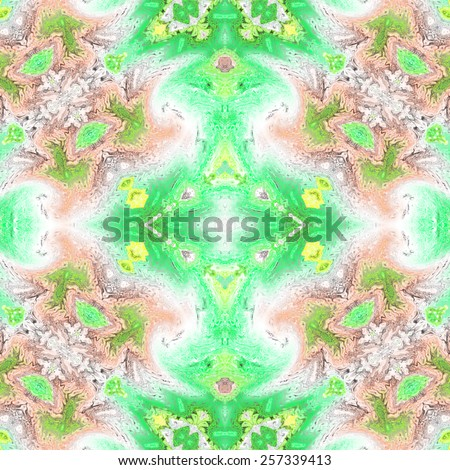 Repeating abstract artistic colorful background for design - stock photo