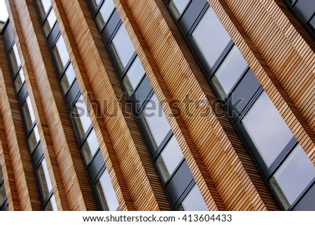 Repeating patterns, architectural details and geometric constructions. Residential buildings.  - stock photo