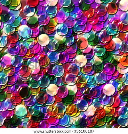 Repeating the crystal balls of overlay pattern background.  - stock photo