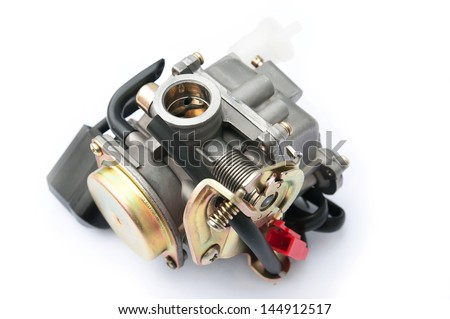replacement part for repair, component internal combustion engine repair at home - stock photo