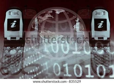 Represent Two Way Conversation, Wireless Communications - stock photo