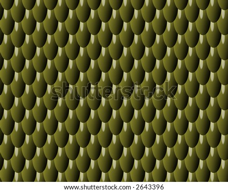 reptile skin background of green plastic scales - stock photo