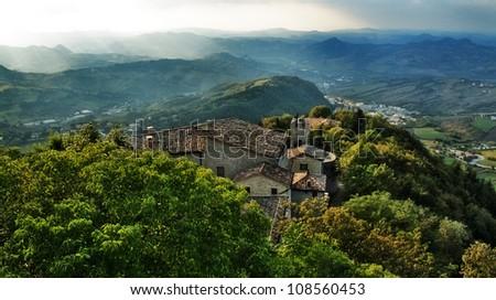 Republic of San Marino, Italy - stock photo