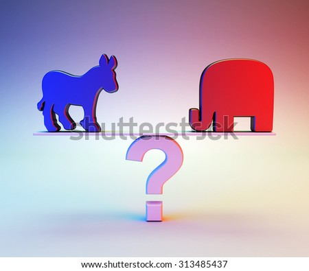 Republican or Democrat - stock photo