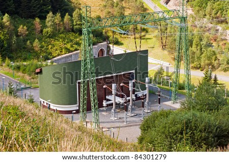 Repump hydro power station Dlouhe Strane, Czech Republic - stock photo