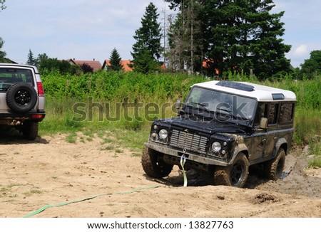 Rescue 4x4 vehicle - stock photo