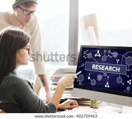 Research Science Information Experiment Concept - stock photo