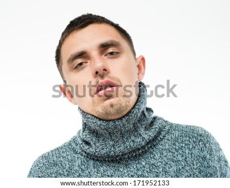 resentful man - stock photo