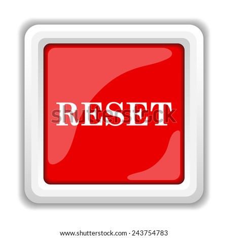 Reset icon. Internet button on white background.  - stock photo