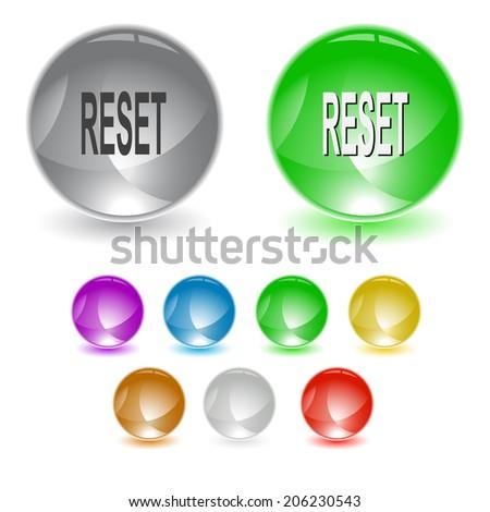 Reset. Raster interface element.  - stock photo
