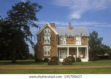 Residence in Moorefield along Route 220, WV - stock photo