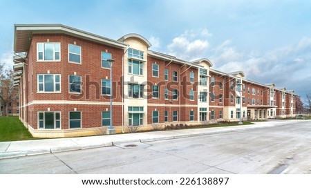 Residential Apartment Complex located in Cedar Falls, Iowa / Residential Apartment Complex - stock photo