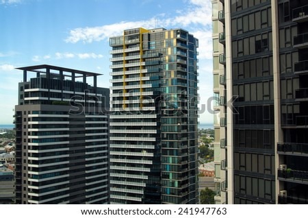 residential apartments building in Melbourne,Australia - stock photo