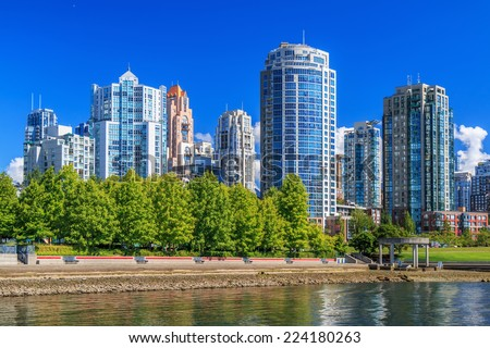 Residential area in Downtown Vancouver, British Columbia, Canada - stock photo