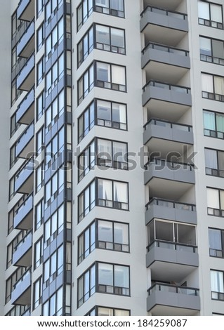 Residential building exterior - stock photo