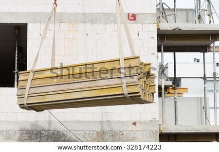 residential development in the construction  - stock photo