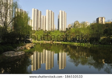 residential district - stock photo