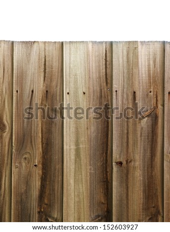 residential fence closeup isolated on white - stock photo