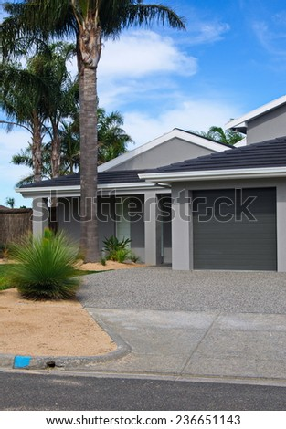 residential house closeup - stock photo