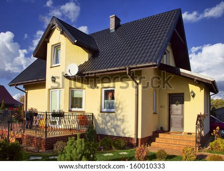 Residential house in the suburbia - stock photo
