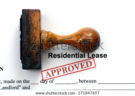 Residential lease - approved - stock photo