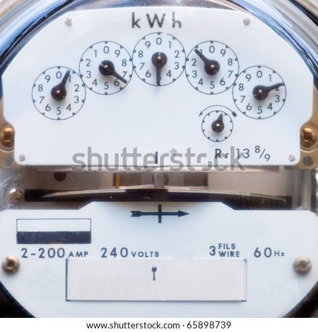 Residential power supply meter - stock photo