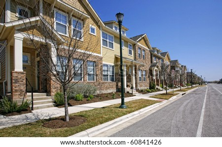 Residential street - stock photo