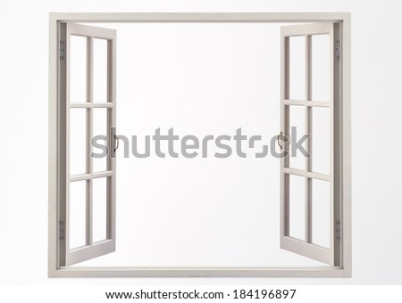residential window frame - stock photo
