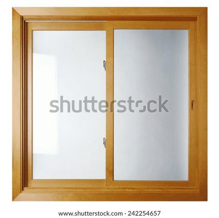 residential window frame - stock photo