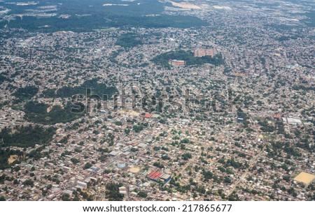 Residential zone of Manaus, aerial view, Amazon, Brazil - stock photo