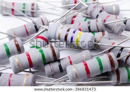 Resistors. - stock photo