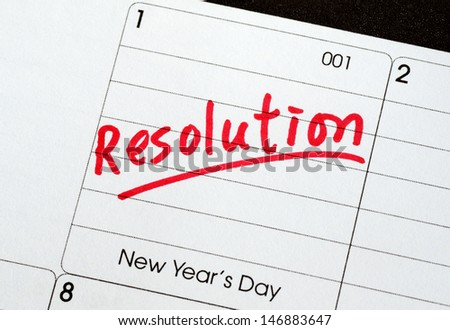 Resolutions for the New Year concepts of goal and objective  - stock photo