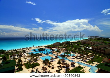 Resort in Cancun - stock photo