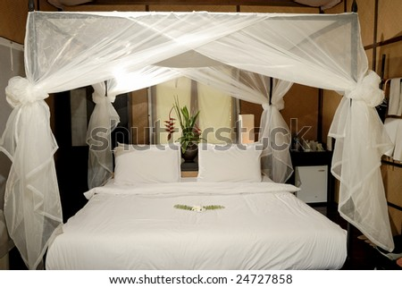 Resort's bedroom - stock photo