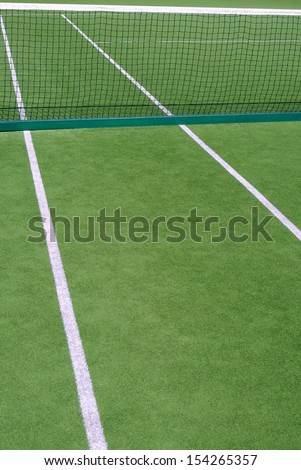 Resort tennis club and tennis court - stock photo