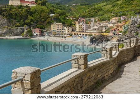 Resort Village Monterosso al Mare, Cinque Terre, Italy - stock photo