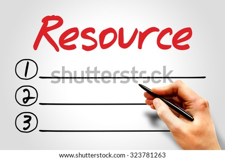 Resource blank list, business concept - stock photo