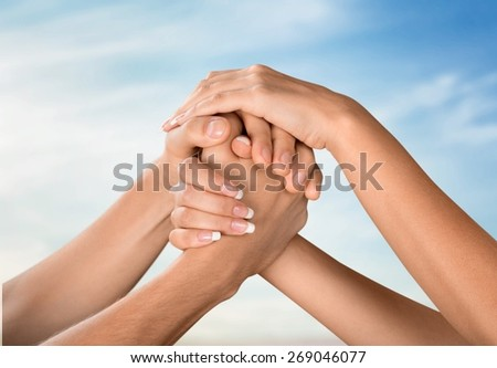 Respect. Teamwork - stock photo