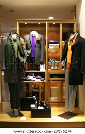 respectable boutique for men - stock photo