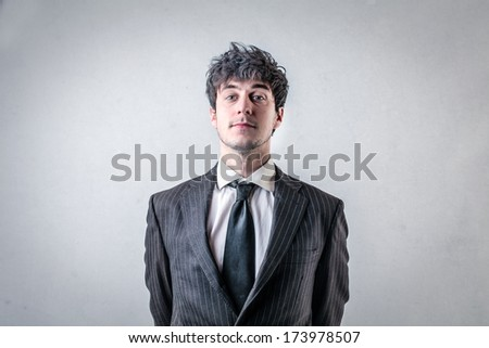respectable businessman - stock photo