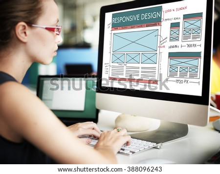 Responsive Design Layout Content Concept - stock photo