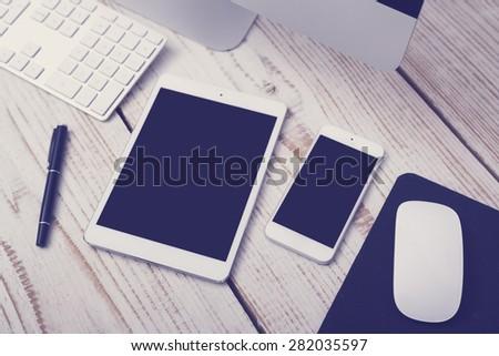 Responsive design mockup - stock photo