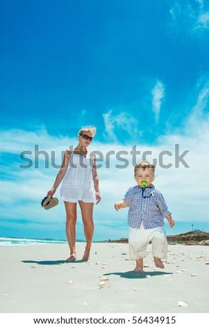 Rest on a beach - stock photo