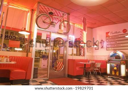 Restaurant at Night - stock photo