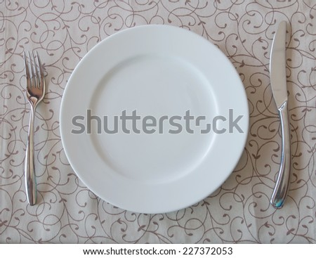 restaurant, Empty glasses in restaurant - stock photo