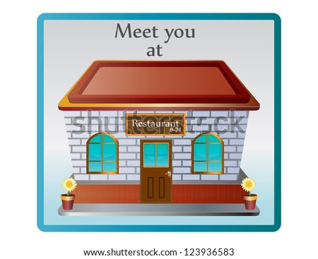 Restaurant icon for meeting - stock photo