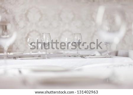 restaurant interior - stock photo